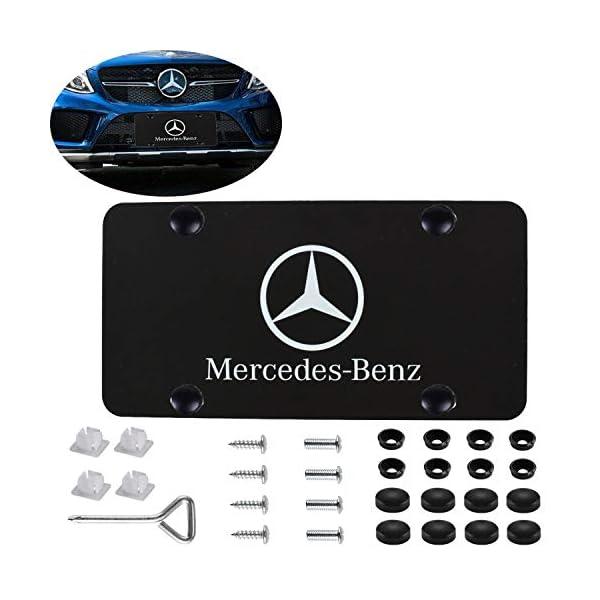 black stainless steel license plate screws