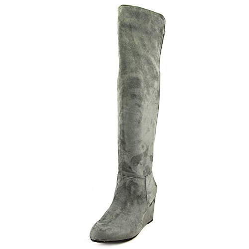 Chinese Laundry Womens Unbelievable Almond Toe Over Knee Fashion, Grey, Size 6.5