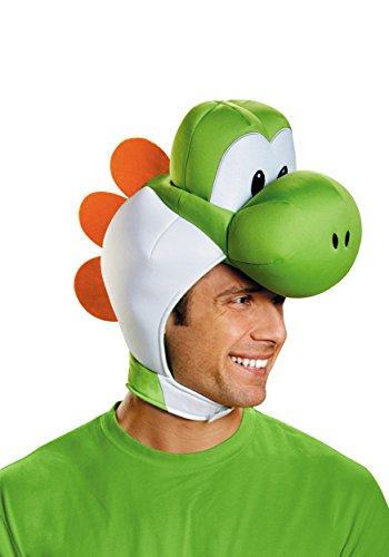Disguise Men's Yoshi Costume Accessory Headpiece - Adult, Green, One Size]()