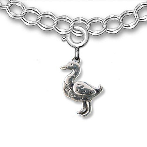 (The Magic Zoo Sterling Silver Duck Charm for charm bracelet)