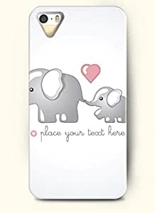 OOFIT Phone Case design with Mother Elephant Loves Its Baby Elephant for Apple iPhone 5 5s 5g