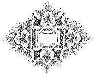 product image for Heritage Lace Heirloom 12-Inch by 9-Inch Doily, White, Set of 2