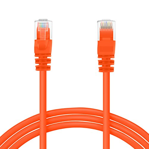 GearIT 500 Feet Cat 6 Ethernet Cable Cat6 Snagless Patch - Computer LAN Network Cord, Orange from GearIT