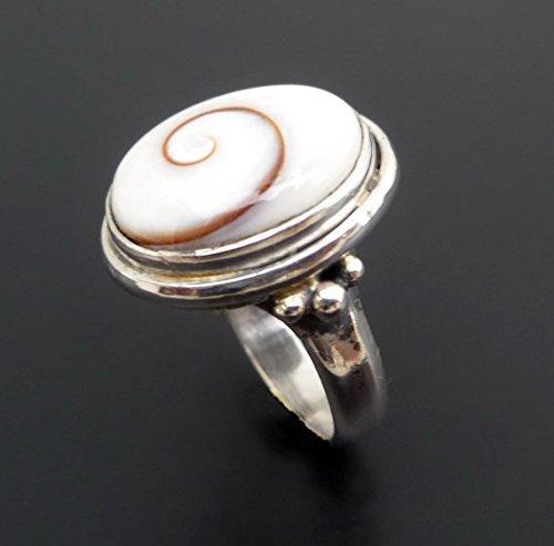 Amazon com: Shiva Eye Ring Shell Ring Beach Shell 925