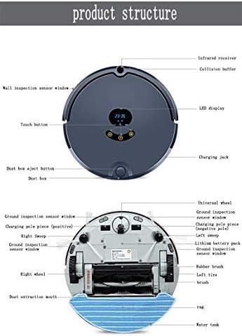 CHUTD Aspirateur Robot de Balayage Intelligent avec Auto-Chargement, Plusieurs Modes de Nettoyage Idéal pour Les Poils d\'animaux, Tapis Moyen pour Sol Dur (Couleur: Rose) Blue