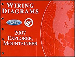 2007 ford explorer mercury mountaineer wiring diagrams ford motor rh amazon com 2007 ford explorer trailer wiring diagram 2007 ford explorer sport trac wiring diagram