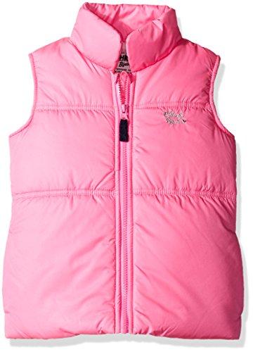 Osh Kosh Little Girls' Fleece Lined Puffer Vest, Pink, 5/6