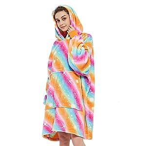 AOSEE Surdimensionné à Capuche Blanket Sweat-Shirt,Le Pull géant avec Grande Poche,Sweat à Capuche nouveauté Doux et…