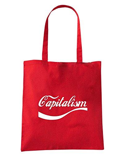 T-Shirtshock - Bolsa para la compra ENJOY0030 Enjoy Capitalism Rojo