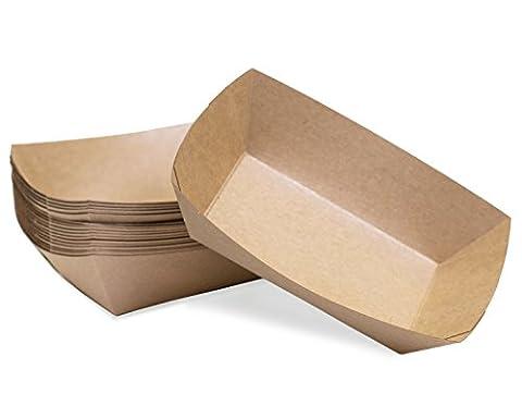 Large (2 Lb.) Kraft Paper Food Tray | 25 Ct (Paper Food Trays 2lb)