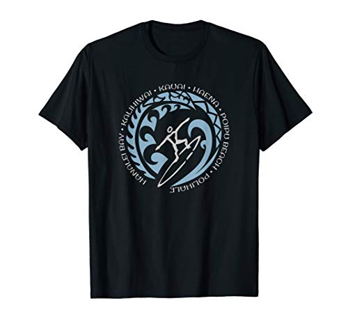 Kauai Surf T Shirt Surfing Lovers