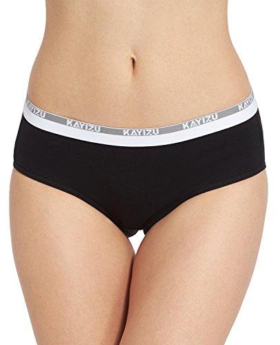 KAYIZU Women's Underwear Super Soft Cotton Hipster Panty Black (1-Pack) 6