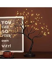 Led Bonsai Boom Licht Kunstmatige Boom Lichten, Batterij/USB Werken, Verstelbare Takken, voor Huisdecoratie Nachtlampje en Gift (Zwart/Warm Gloei)