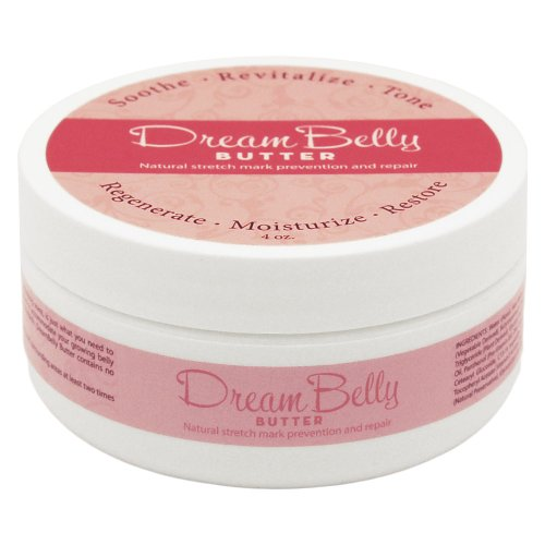 DreamBelly Stretch Mark Butter, 4 oz, No Itch, No Stretch Marks, All Natural!