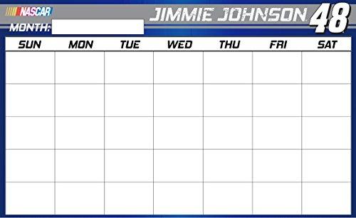 NASCAR #48 Jimmie Johnson Magnetic Dry Erase Memo Board Calendar-NEW for 2016!