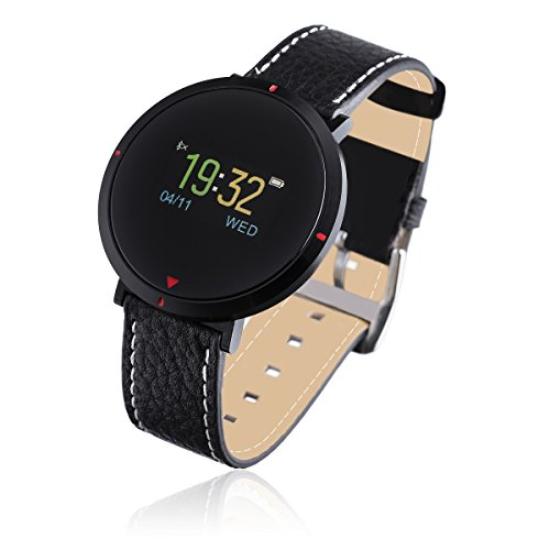 Smart Watch For Women, Bakeey S2 Women Girls Men Bluetooth Waterproof Leather Touchscreen Smart Watches with Heart Rate Monitor Sleep Monitor for IOS iPhones and Android Phones Best Gift for Couple