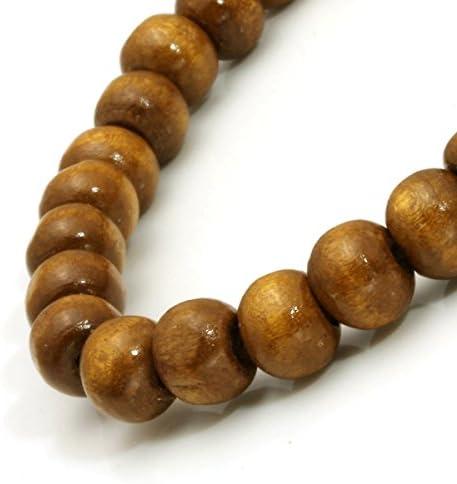 Natural Gold teak Bamboo festival Beaded Elastic Bracelets Buddhist rosary Meditation Prayer yoga wood Bracelet for men women