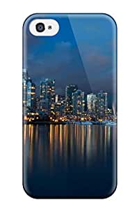 Iphone 4/4s Case Cover - Slim Fit Tpu Protector Shock Absorbent Case (vancouver City )