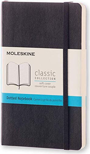 """Moleskine Classic Notebook, Soft Cover, Pocket (3.5"""" x 5.5"""") Dotted, Black, 192 Pages"""