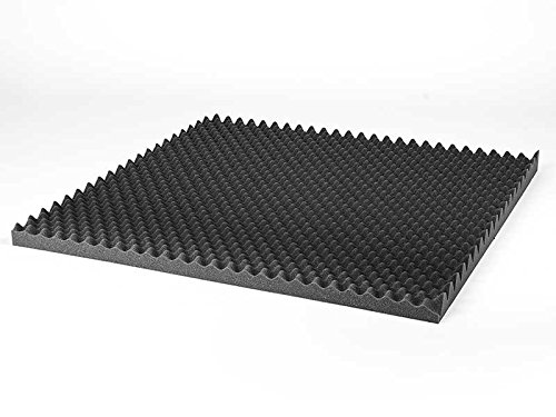 Espuma acústica Alveolar. 95x95cm (3 cm de espesor). Plancha acústica multiusos. Manta acústica antiruido. Material de embalaje de productos frágiles.