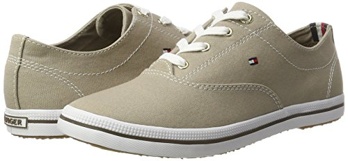 Basses Beige 4d1 Sneaker Hilfiger Tommy E1285rin cobblestone Femme Int 068 wyqTvcRpc