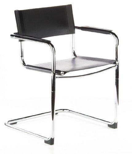Hjh office cuatro sedia da conferenza cantilever 2 pezzi ecopelle 100 poliuretano nero cromo - Sedia cantilever ...