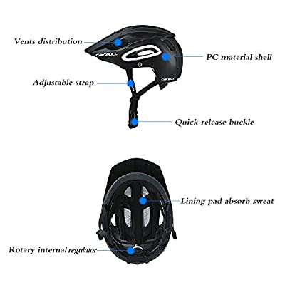 Breathable Safety Integrally-Molded Ultralight Helmet Professional MTB Bike Bicycle Helmet Sport Racing Cycling Helmet : Sports & Outdoors