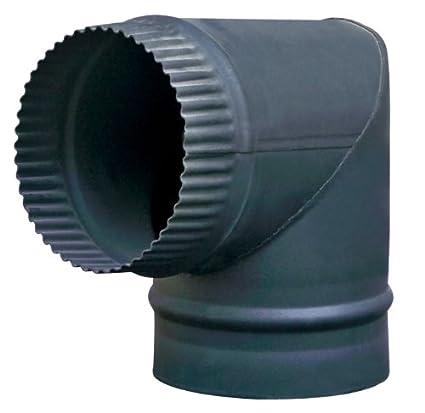KMS FoxHunter – Tubo de acero para leña, Multifuel estufa chimenea 6 pulgadas (150