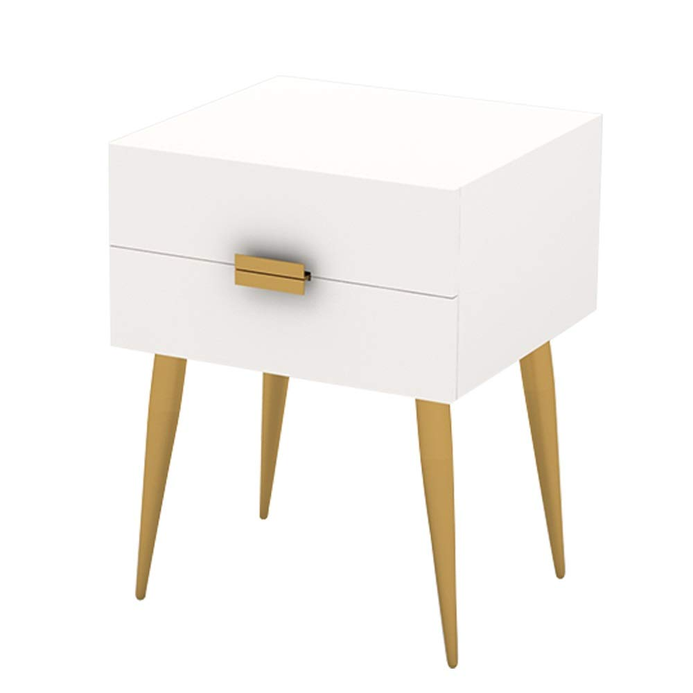 Ping Bu Qing Yun Bedside Table, Garden Style Creative high Foot Small Cabinet Bedroom Bedside Cabinet Small Space Bed Corner Table, Suitable for: Living Room/Bedroom/Study, B