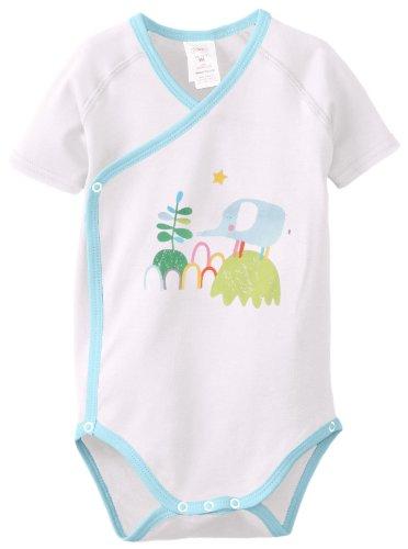 Zutano Baby-Girls Newborn Summer Screen Short Sleeve Wrap, White, 3 Months