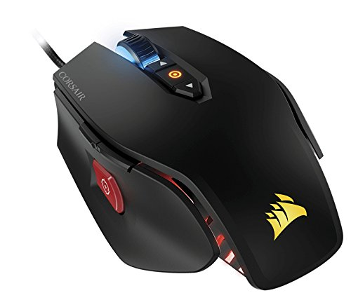 Corsair M65 PRO RGB Optical FPS Gaming Mouse (12000 DPI Optical Sensor, Adjustable Weights, 8 Programmable Buttons, 3-Zone RGB Multi-Colour Backlighting, Xbox One Compatible) - Black