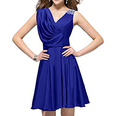 Sunvary Summer V Neck Short Cocktail Prom Dress for Mother of the Groom Size 22W- Royal Blue