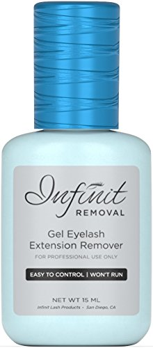 Infinit GEL Eyelash Extension Glue Remover - Professional Eyelash Extension Supplies Fast Acting Formula - 60 Seconds - Cool Blue Color & Pleasant Smell - 15ML (Glue Remover Gel)