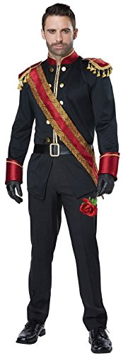 California Costumes Men's Dark Prince Adult Man Costume, Black/Burgundy, Medium