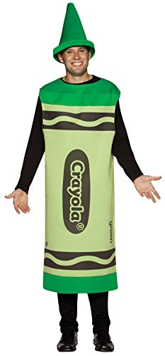 Crayola Adult Costume Size: Large / Extra Large, Color: Green -