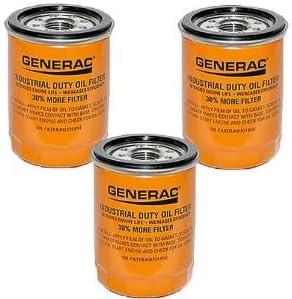 0K06950SRV 3-Pack 070185E 90mm High Capacity Extended Duty Oil Filter Generac