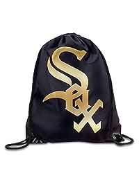 Chicago White Sox Glod Logo GYM Drawstring Backpack Bag