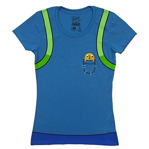 Adventure Time Finn Costume Junior T-Shirt-Junior X-Large