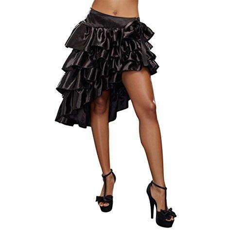 Dreamgirl Women's Ruffled Skirt, Black, Small