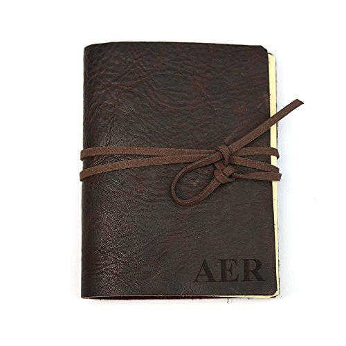 Personalized Natural Genuine Leather Wrap Journal