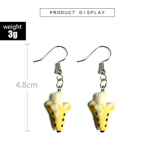 Topdo Womens Girls Stud Earrings Banana Cute Software Daily Ear Cuff Simple Jewelry Gift 1Sets