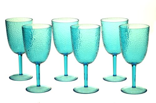 nal All Purpose Acrylic Goblet, 16-Ounce, Teal, Set of 6 (Blue All Purpose Goblet)