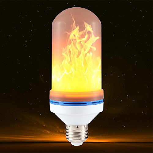 Flame Light Bulbs, EXE-WORLD E26/E27 LED Flickering Flame Effect Bulb, 105pcs 2835 LED Beads Simulated Decorative Vintage Lighting Lamps for Home/Bars/ Restaurants /Festival/ Christmas Decoration (Plastic Vintage Beads)