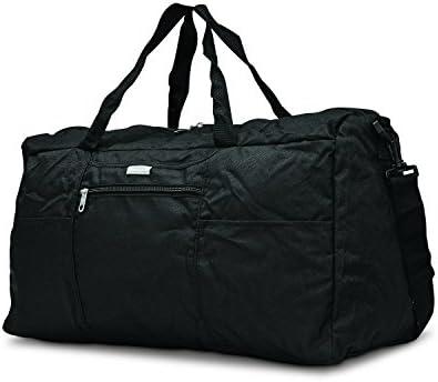 Samsonite Foldaway Packable Duffel Bag, Black, Medium