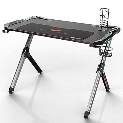 Amazon Com Eureka Ergonomic R1 S Gaming Desk Gaming Computer Desk