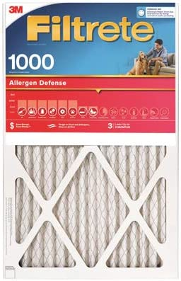16x25x1-In 9901-6-CP Allergen Defense Red Micro Pleated Air Furnace Filter Quantity 6