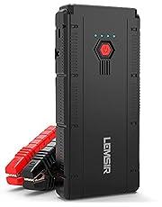 LEMSIR V2 QDSP 1500 A Peak 12 V Arrancador portátil de Litio para Coche de hasta 8.0 L de Gas o 6.2 L Diesel, Paquete de Potencia de batería automática con Cables de Puente Inteligente
