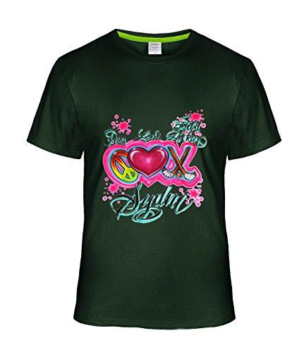 [Fatal Decision Men's Peace Love Field Hockey Funy T Shirt Short Sleeve Tees deepGreen] (Mens Disco Jumpsuit)