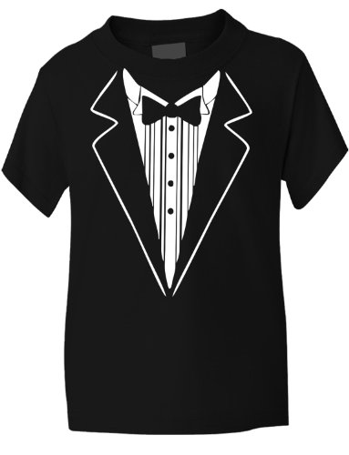 Print4U Tuxedo Fancy Dress Funny Kids T-Shirt 7-8 (Next Day Delivery Fancy Dress)