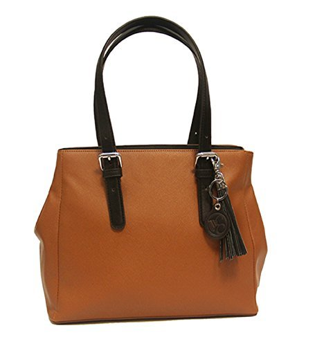 Concealed Carrie Concealed Carry Color Block Satchel Handbag - Carrie Color
